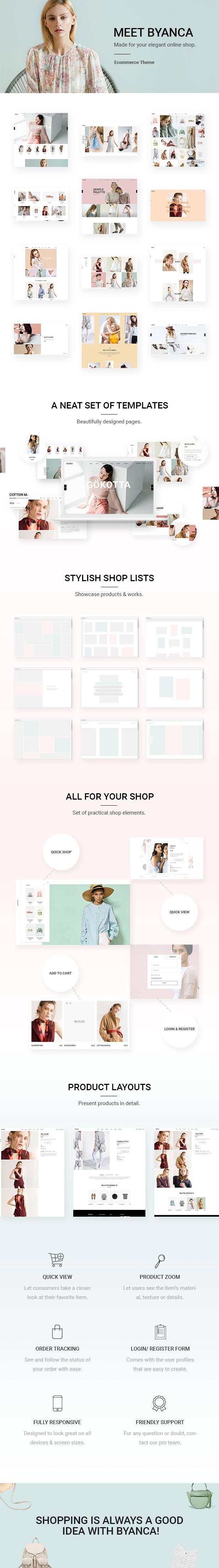 Byanca - Modern WooCommerce Theme for Clothing Brands and Shops - 1